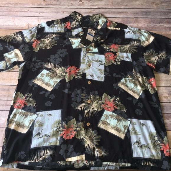 7ac4c4e44 Manhattan Shirts | Mens Short Sleeve Shirt Sz Xl Flowers | Poshmark